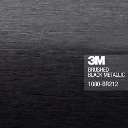 3M 1080 Brushed Black Metallic Vinyl Car Wrap Film