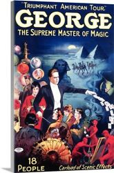 Solid-Faced Canvas Print Wall Art entitled George The Supreme Master of Magic