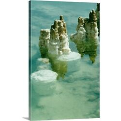 Solid-Faced Canvas Print Wall Art entitled Salt deposits and formations in the