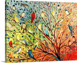 Twenty Seven Birds Canvas Wall Art Print Bird Home Decor $22.49