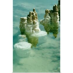 Poster Print Wall Art entitled Salt deposits and formations in the Dead Sea