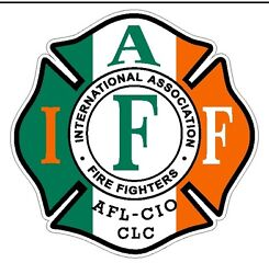 4quot; IAFF Decal Exterior Mount Irish Flag Pattern Please Read Auction