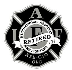 4quot; IAFF Decal Black and Silver Retired Exterior Mount Please Read Auction