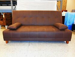 Choco Black Faux Leather or Microfiber Suede Futon XL Full Size (1 piece)