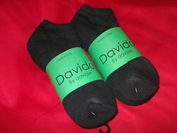 Davido women socks ankle low cut made in Italy 100%cotton 8 pack black size 6 8 $15.00