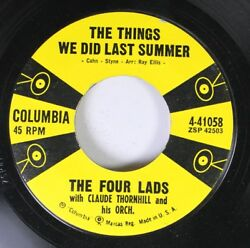 50'S & 60'S 45 The Four Lads - The Things We Did Last Summer  Put A Light In Th