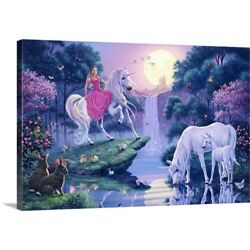 Solid-Faced Canvas Print Wall Art entitled The Magic Pool