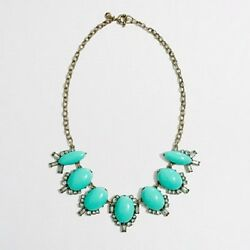J.Crew Factory Stone Chandelier Crystal Necklace Colorfully Beautiful $25.88