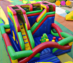 30x30x25 Commercial Inflatable Playground Wet Slide Obstacle Course Bounce House