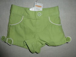 Gymboree PALM BEACH PARADISE Green Piped Pique Bow Shorts NWT 6-12 Baby Girl $18.95