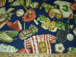~2 68 YDS~ SPORTS GEAR CHILDRENS~LIGHT COTTON UPHOLSTERY FABRIC FOR LESS~