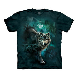 The Mountain Night Wolves Collage Adult Unisex T Shirt $20.40