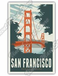 San Francisco Golden Gate Bridge California Car Bumper Vinyl Sticker D $3.50