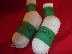 Davido women socks crew made in italy 100% cotton size 9 11 color white 6 pairs $15.50