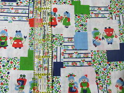 Vtg lightweight apparel cotton fabric novelty kids cheater BTHY half yard calico $12.50