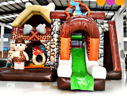 30x20x25 Commercial Inflatable Flintstones Playground Bounce House Combo Slide $5,900.00