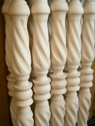 Stair Balusters Spiral Twist Carved Wood Spindles 2