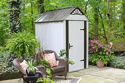 Arrow Designer Hot Dipped Galvanized Steel Shed  4' W  x 6' L  With swing doors