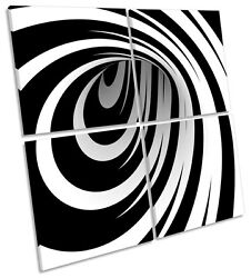 Magic Hole Mono Abstract MULTI CANVAS WALL ART Square Picture