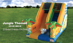 36x20x20 Commercial Inflatable Clown Zoo Bounce House Combo Slide 100% Financing