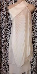 Christian Dior Dress Milk White Pleated Silk. With Skirt Size Altered To Size 2