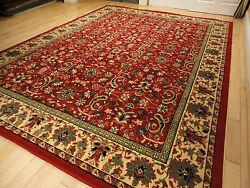 Large Traditional Area Rugs Carpet Oriental Rug 8x10 Red Rugs 5x8 $89.94