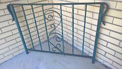 Vintage Green Wrought Iron Porch Railing - Scroll Design - 42.25