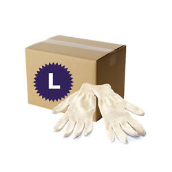 300 Pairs Natural White Cotton String Knit Gloves - Size Large
