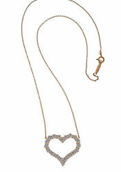Tiffany & Co. Diamond Heart Necklace 1.96CTTW 18K Rose Gold MSRP $9300