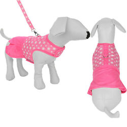 Pink Star Pet Apparel Clothes Dog Harness Dress With D Ring Leash Size S M L $17.66
