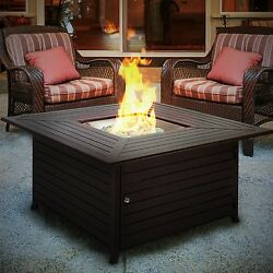 Fire Pit with Cover Outdoor Patio Fireplace Firepit Backyard Heater NEW
