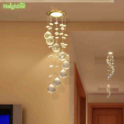 Crystal LED Ceiling Lamp Small Chandelier Hallway Porch Pendant Light Lighting $19.99