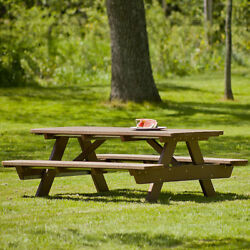 POLYWOOD Park 6 Foot Patio Picnic Table