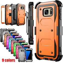 For Samsung Galaxy S7 Edge S8 S9 Note10 S20 Phone Case Rugged Holster Clip Cover $7.99