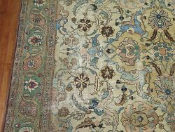 Antique Persian Tabriz Rug Size 9'x12'3''