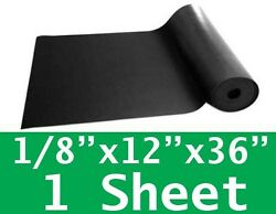 1 8quot; thick Neoprene Rubber Sheet 12quot; x 36quot; SOLID Long Black 60 Duro FREE SHIP $12.99