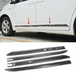 fit for 2011-2020 Toyota Sienna Chrome Body Side Door Molding Cover Trim Garnish