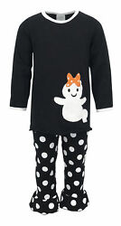 Girls Top Pant Ghost Shirt Halloween Outfit Boutique Toddler Kids Clothes USA $14.99