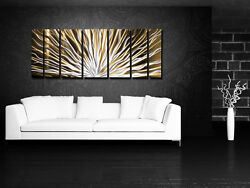 Modern Art Contemporary Abstract Metal Wall Sculpture Work Painting Large Decor $199.95