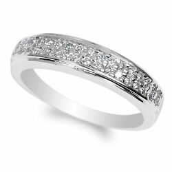 925 Sterling Silver 1.0ct Clear CZ Fancy Engagement Band Ring Size 4-9