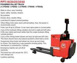 2.0 Tons Electrical Power Pallet Truck