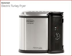 Electric Turkey Fryer Fish Fryer Indoor up to 14 Lbs. Easy Cleaning Stainless