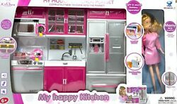 Modern Kitchen Battery Operated Toy Kitchen Playset Perfect for 11.5quot; Tall Doll $43.89