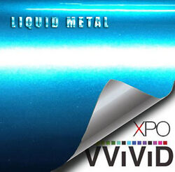 VViViD Liquid Metal Aqua Blue vinyl car bike boat wrap Gloss film u choose size