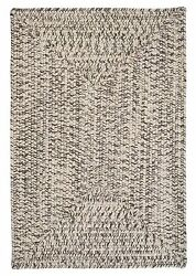 Corsica Indoor Outdoor Rectangle Braided Rug Silver Shimmer ~ Made in USA