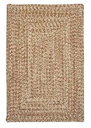 Corsica Indoor Outdoor Rectangle Braided Rug Moss Green ~ Made in USA