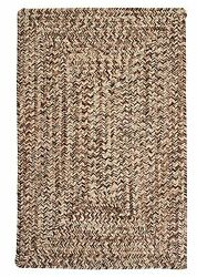 Corsica Indoor Outdoor Rectangle Braided Rug Weathered Brown ~ Made in USA