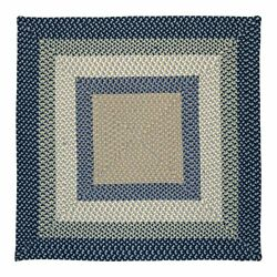 Montego Indoor Outdoor Square Braided Rug Blue Burst ~ Made in USA