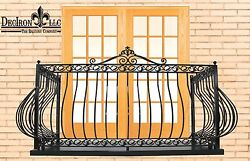 Wrought Iron Balcony with stand off  48