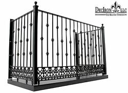Wrought iron Juliette Balcony with stand platform 67